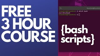 Bash Scripting Full Course 3 Hours