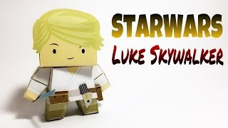 Luke Skywalker Star Wars Paper Crafts tutorial !