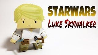 Luke Skywalker Star Wars Paper Crafts tutorial !