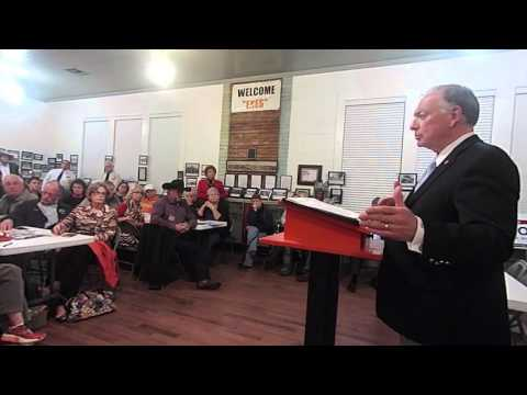 GOP Candidates at Grand Saline TX 1/4/16 Rep Flynn