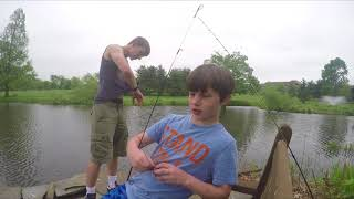 Fishing with Green Worms