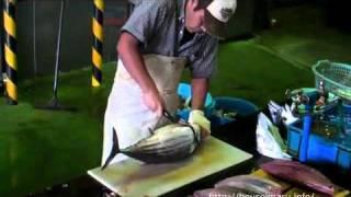 Разделка рыбы. Быстрая и качественная разделка бонито