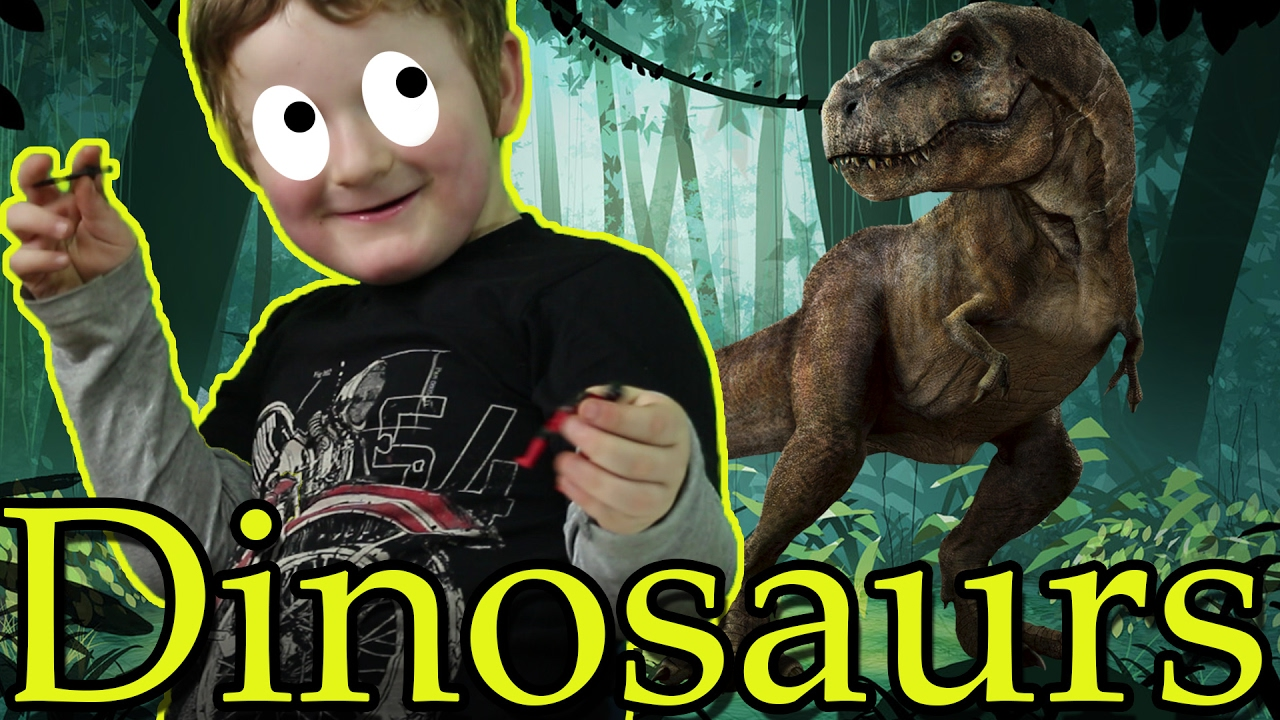 Playing with Dinosaurs! Time Travel - New Kids TV