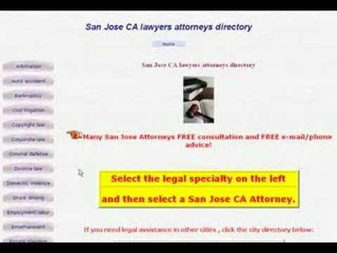 San Jose California Lawyers & Attorneys Directory