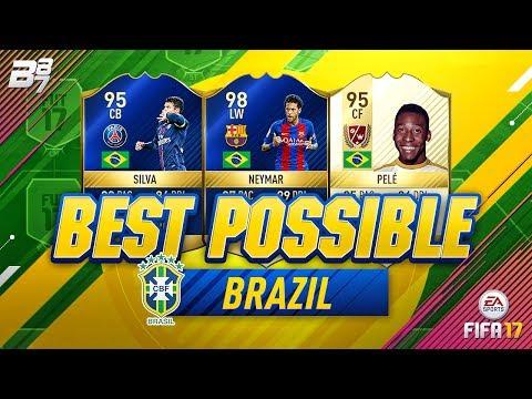 BEST POSSIBLE BRAZIL TEAM! w PELE AND TOTS NEYMAR!  FIFA 17