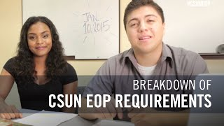 Requirements to apply for EOP at CSU, Northridge