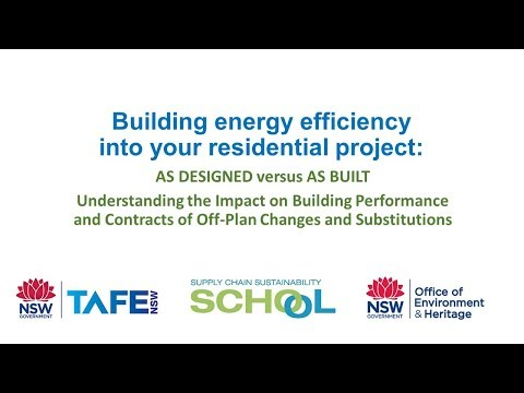 FULL VIDEO: Building Energy Efficiency into your Residential Project