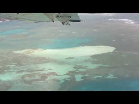 Seaplane landing at Fort Jefferson (Dry Tortugas)