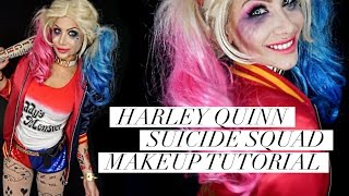 Harley Quinn Suicide Squad GLAM & GORE makeup tutorial | BeeisforBeeauty