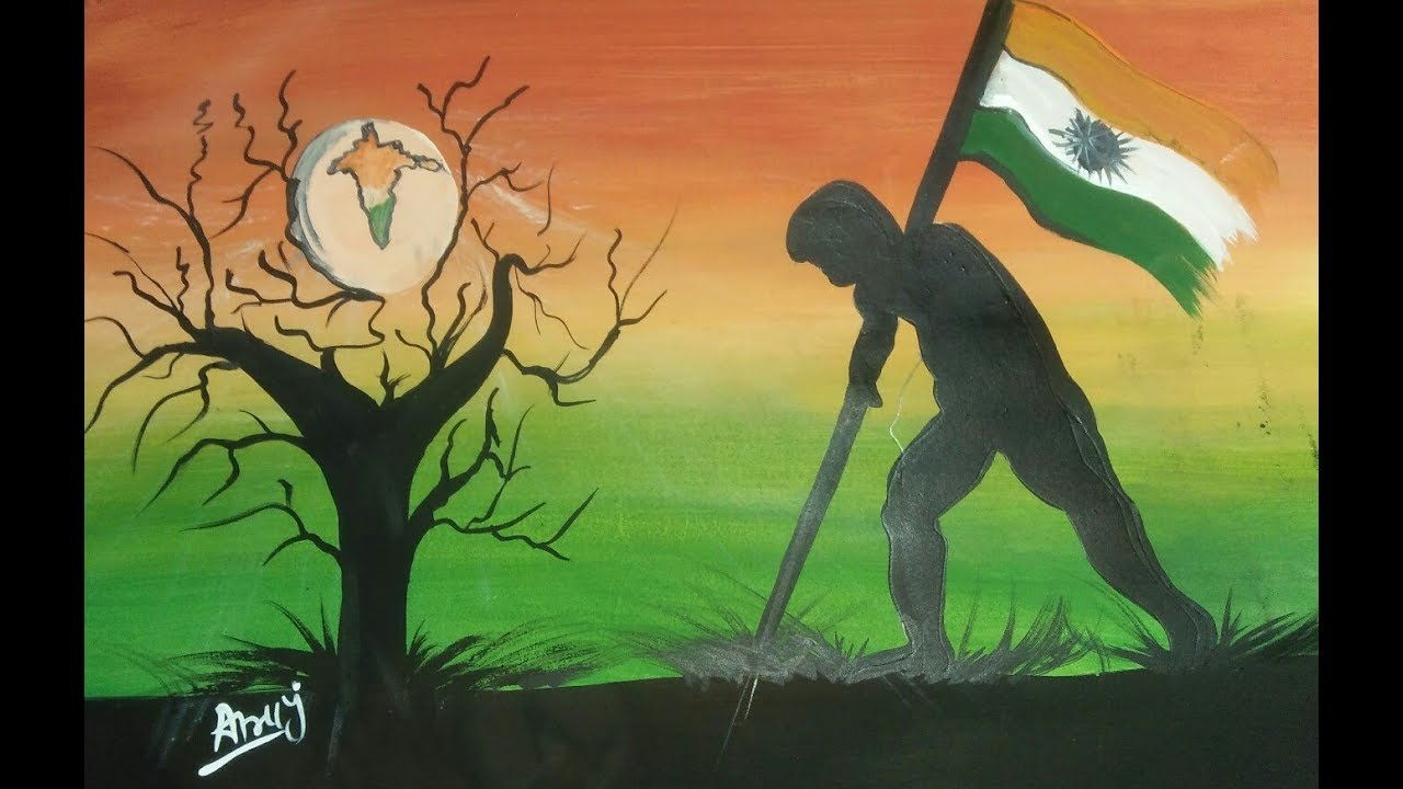 Independence Day Republic Day Specially Poster Colour Painting Youtube