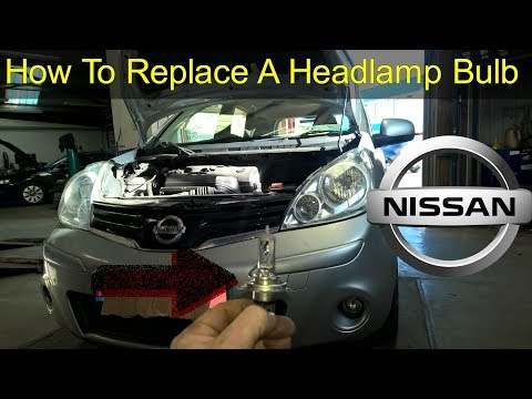 Nissan Note Headlight Bulb & Park Light Replacement – How To DIY