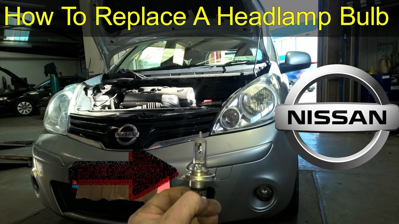 Nissan Note Headlight Bulb & Park Light Replacement - How To DIY
