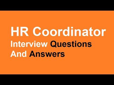 hr coordinator interview questions and answers youtube - Hr Coordinator Interview Questions And Answers