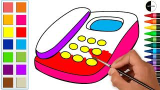 Telephone Coloring Pages | How to Draw and Painting Step by Step for Art Lovers