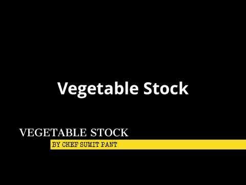 Basic Vegetable Stock || How To make vegetarian stock || Kitchen basic ihm btk first year