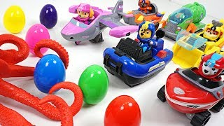 Giant Octopus appeared! Paw Patrol transform into Sea Patrol and surprise egg back - DuDuPopTOY