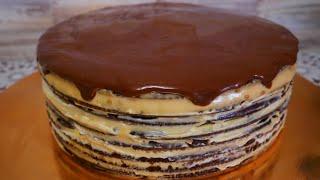 Шоколадный медовик с ДВУМЯ видами крема Торт СПАРТАК рецепт Пряники на палочке для декора