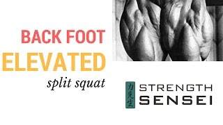 Coach Charles Poliquin on Back foot elevated split squat
