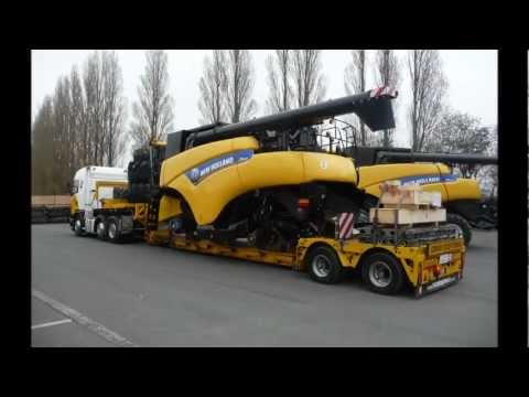 combine harvester transport