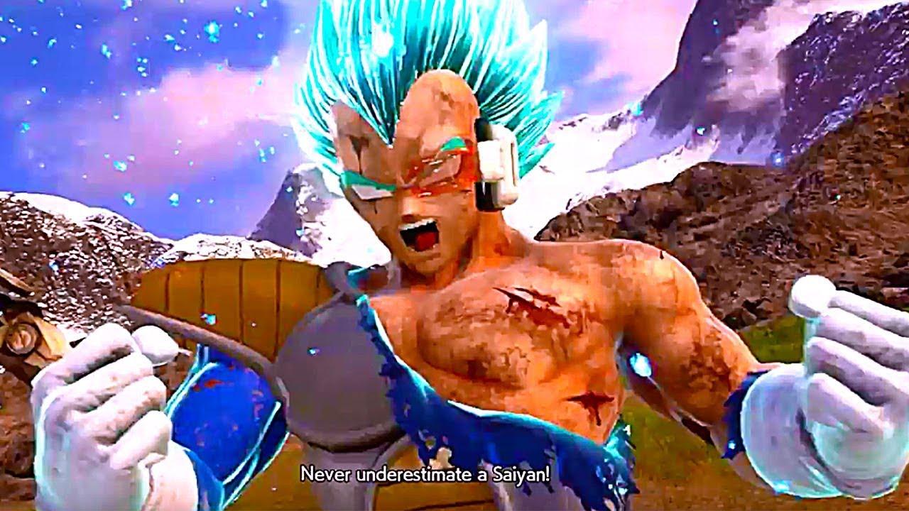 Jump Force Saiyan Saga Vegeta Outfit Gameplay Mod Youtube