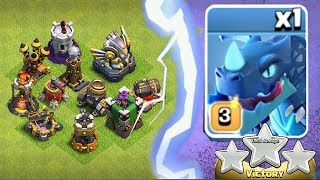 "ALL UPGRADED WEAPONS Vs. E-DRAGON!!""Clash of Clans""  TROLL RAID!!"