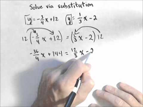 Solving Systems of Equations with Fractions or Decimals ...