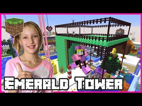Building The Emerald Tower / Minecraft