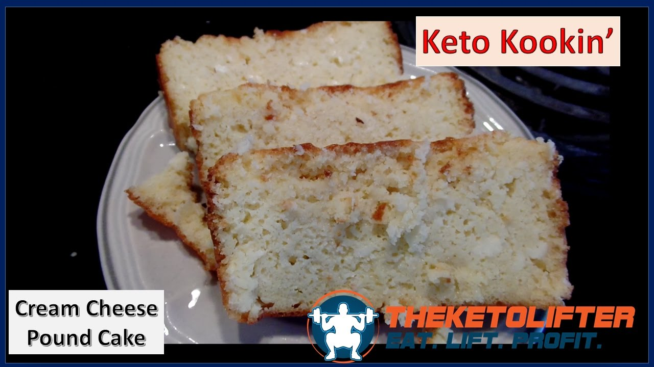 Keto Cream Cheese Pound Cake (Recipe)