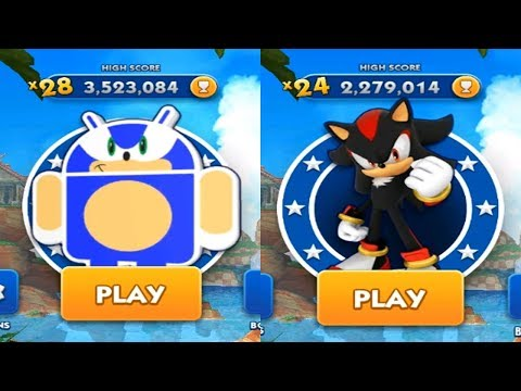 Sonic Dash iPad Gameplay - ANDRONIC VS SHADOW