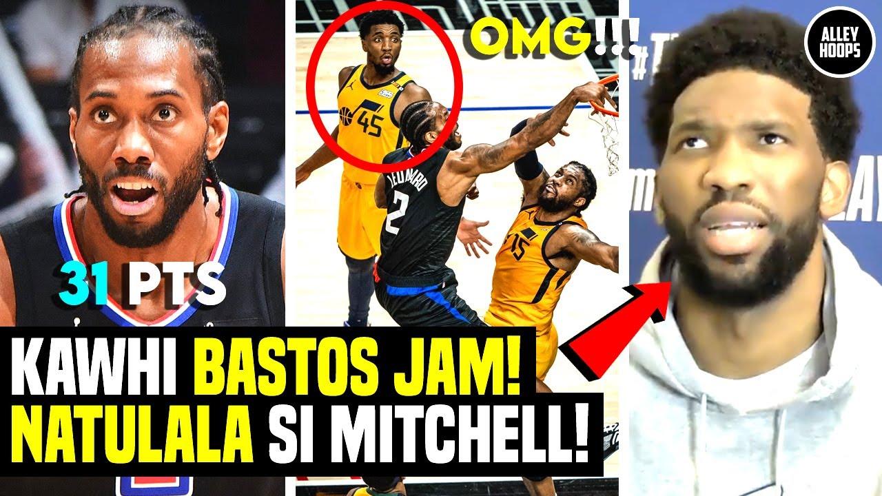 Mitchell NATULALA sa Bastos Dunk ni Kawhi! Embiid Napahinto sa Interview! Jazz vs Clippers Game 4