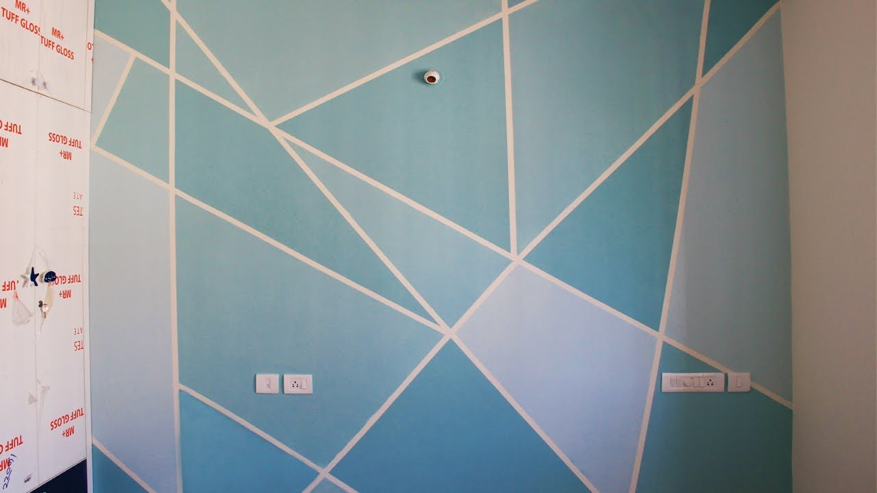 Geometric Wall Painting For Kids Room Aapkapainter At Prestige Ferns Residency Bangalore