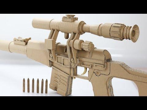Amazing VSS Vintorez | How To Make Cardboard Sniper Rifle Gun Shoots