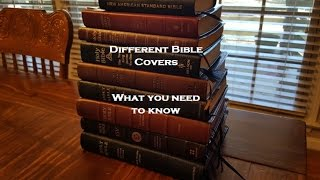 Different Bible Covers - What you need to know.