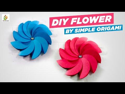 diy paper flower - 2 - easy step by step-  diy with sayan