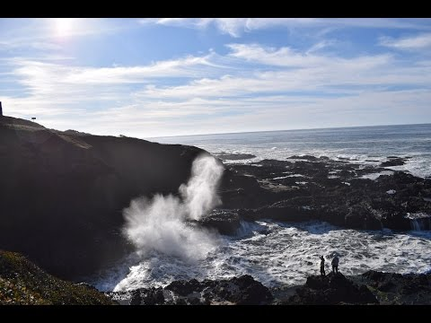 Spouting Horn at Cook's Chasm. The ocean in the action.