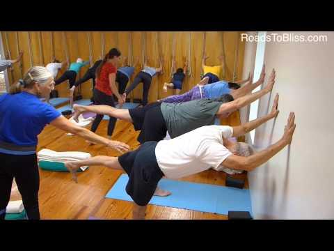 A 50+ Iyengar Yoga class
