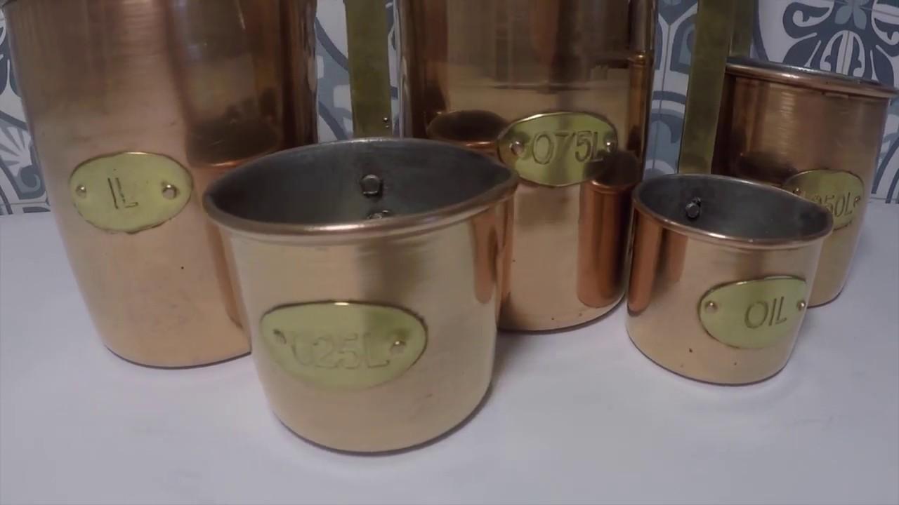 Copper Measuring Pots