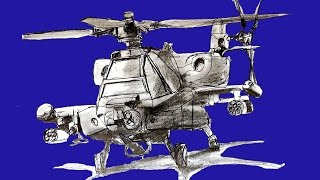 How to draw a Helicopter - Apache CH-64