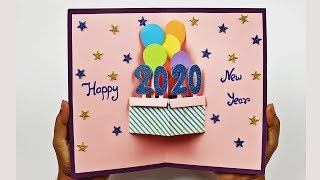 Happy New Year Pop Up Greeting Card 2020 How to Make New Year Card At Home Craft
