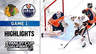 NHL Highlights | Blackhawks @ Oilers, GM1 - Aug. 1, 2020