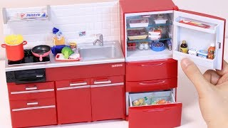 Miniature Kitchen and Refrigerator Re-MeNT