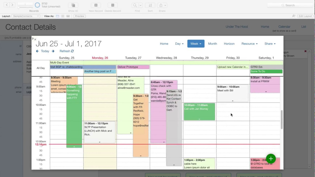 how to make a calendar in filemaker