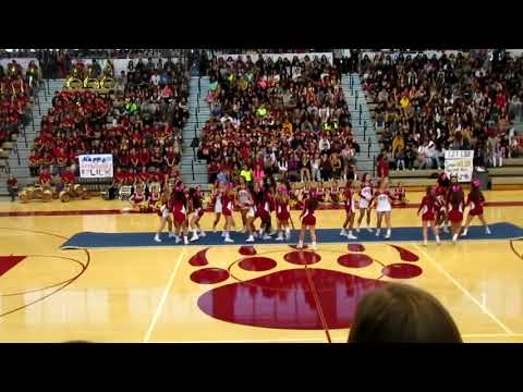 Mission Hills High School Cheer team Homecoming Pep Rally 2018