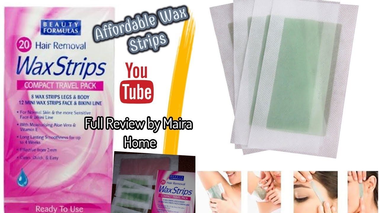 Beauty Formulas 20 Hair Removal Wax Strips Aloe Vera Vitamin E