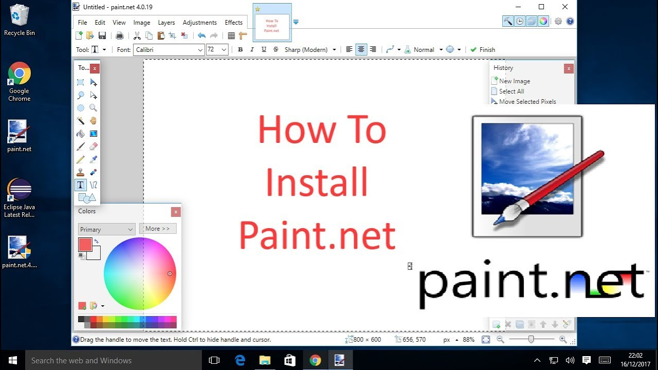 How To Install Paint.net To Windows 10