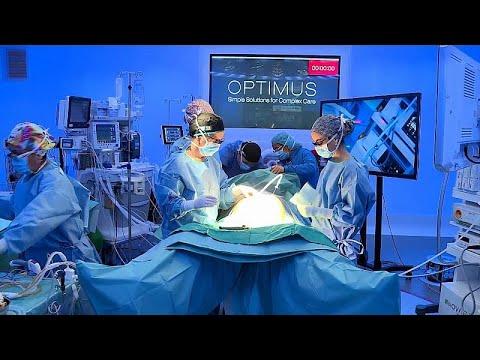 شاهد عملية جراحية لاستئصال سرطان المعدة بنظام 5 جي Youtube