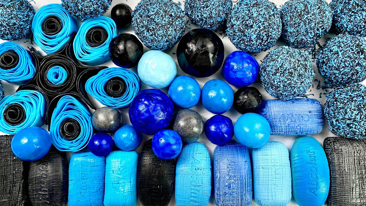Clay cracking 💙🖤 Soap cubes 💙🖤 soap roses 💙🖤  soap balls 💙🖤 Carving ASMR ! Relaxing Sounds !