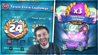 24-1 BEST TRIPLE ELIXIR BATTLE DECK!! | Clash Royale | x2 12 WIN CHALLENGE DECK & CHEST OPENING!!