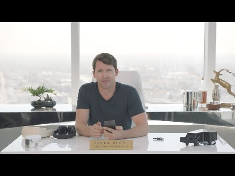 James Blunt as Chief Blunt Officer at Tinder