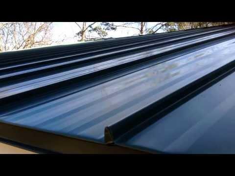 Standing Seam eave & rake trim installation